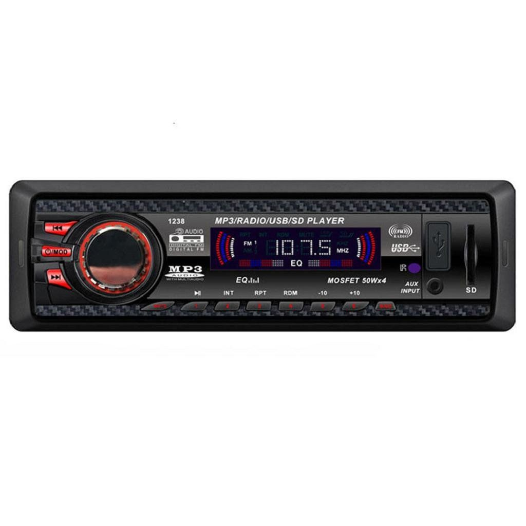 Mokao Car Audio Stereo In Dash Fm With Mp3 Player Usb Sd Input Aux Boss Wiring Harness Vw Jetta Digital Receiver Wireless Remote Control Four Speaker Wires And Mounting Accessories Automatic Memory Funcation For