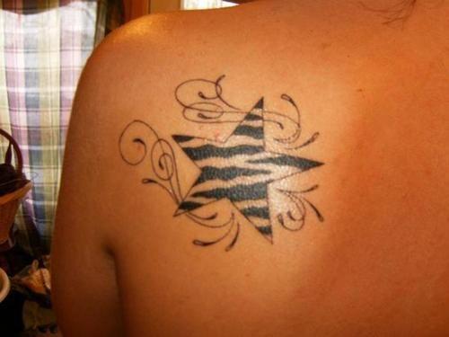 Cute cheetah print tattoos on shoulder