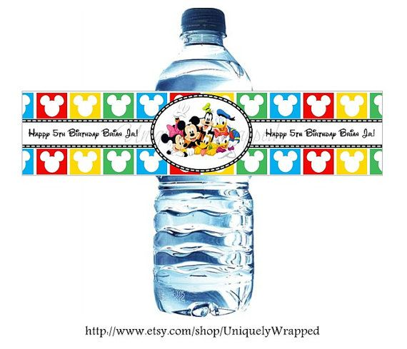 WATERPROOF Personalized Mickey & Friends Disney Water ...