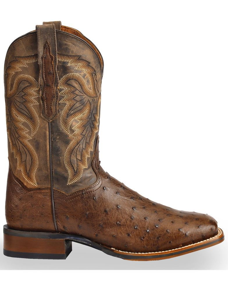 1c7830e9d20 Dan Post Men's Alamosa Full Quill Ostrich Western Boots - Square Toe ...