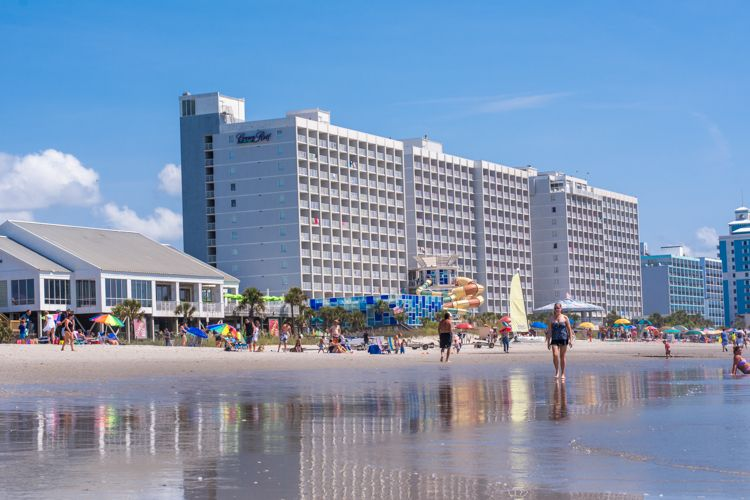 Revamped Family Friendly Crown Reef Resort In Myrtle Beach Sc Hotel Review Traveling Mom Myrtle Beach Resorts Myrtle Beach Vacation Resorts