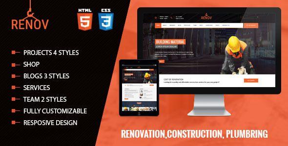 Renov - Construction Renovation Template Pinterest Template - construction change order form