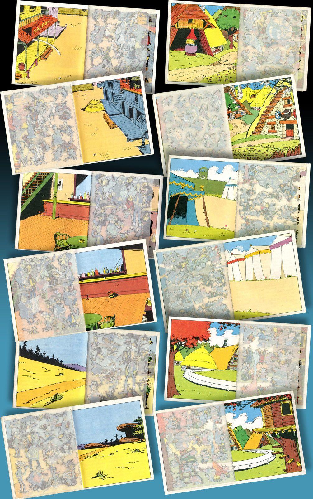 Rubbelbild Heftchen Mini Bucher Asterix Luky Luke 1971 In Box Americana Kalkitos Childhood Retro Quilts