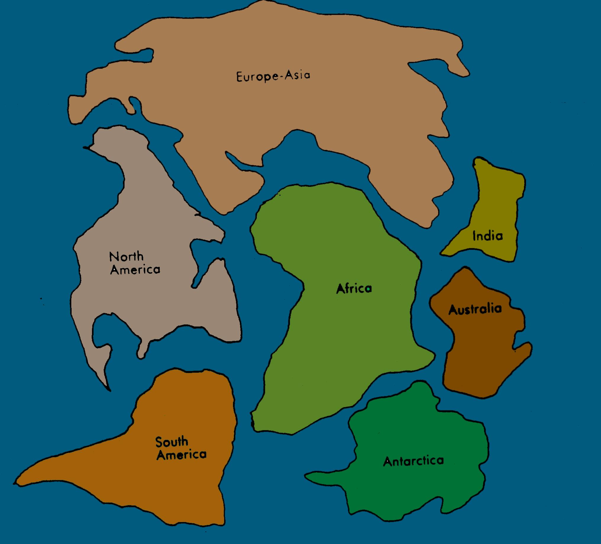 Pangaea Continents 6 Bible Study Illustrations