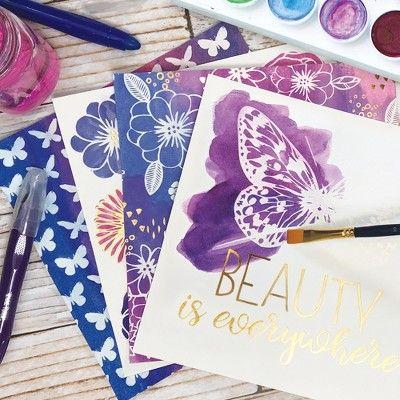 Brea Reese 38pc Watercolor Resist Paper Pad Paper Artwork