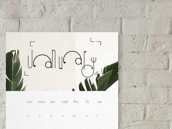 2017 palm calendar modern  creativework247