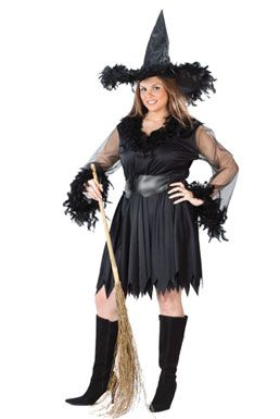 Sexy Plus Size Witch Costume - Feather Witch  sc 1 st  Pinterest & Sexy Plus Size Witch Costume - Feather Witch | !! Halloween ...