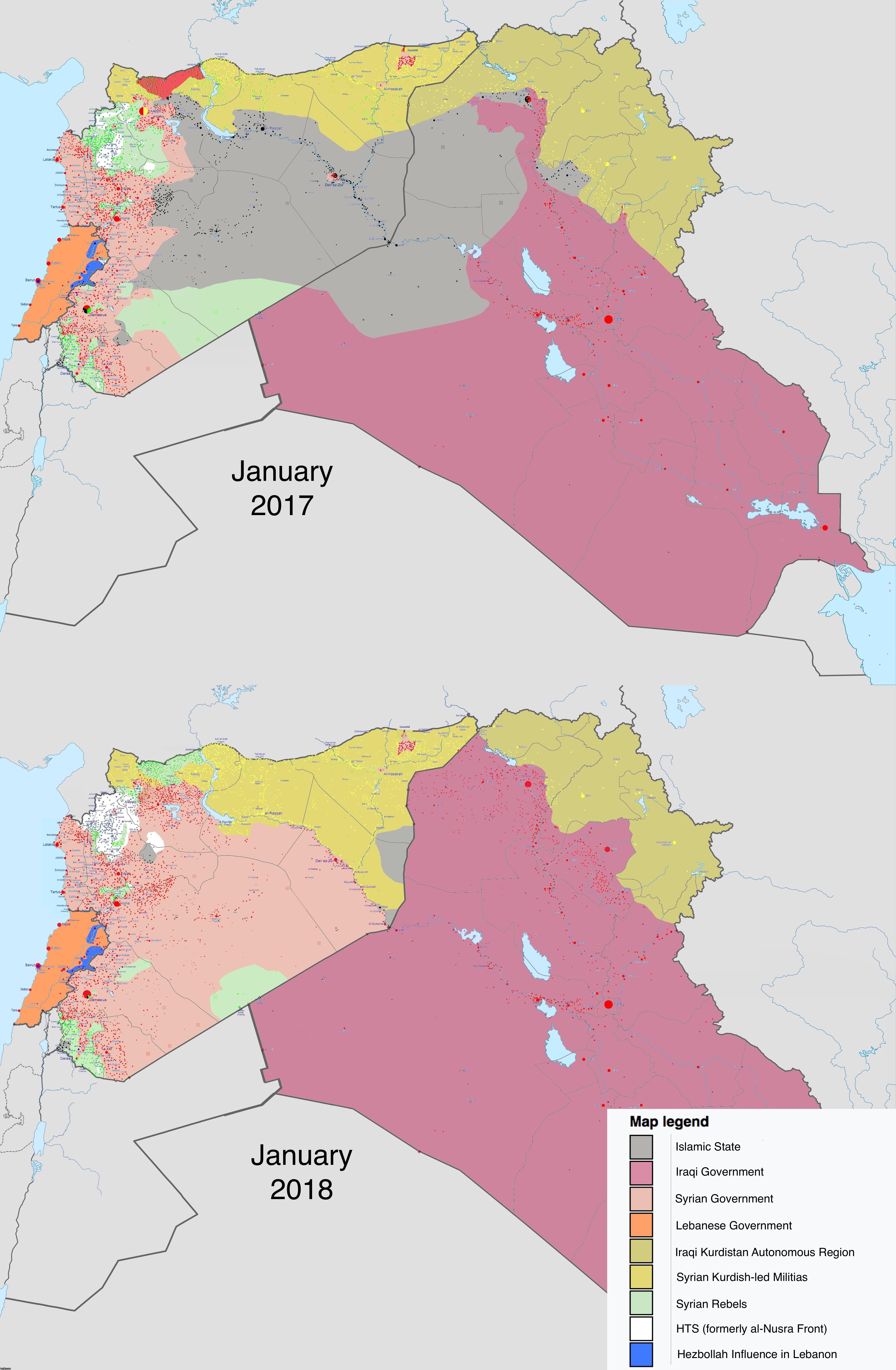 Syria iraq and islamic state one year on from january 2017 to syria iraq and islamic state one year on from january 2017 to january gumiabroncs Gallery