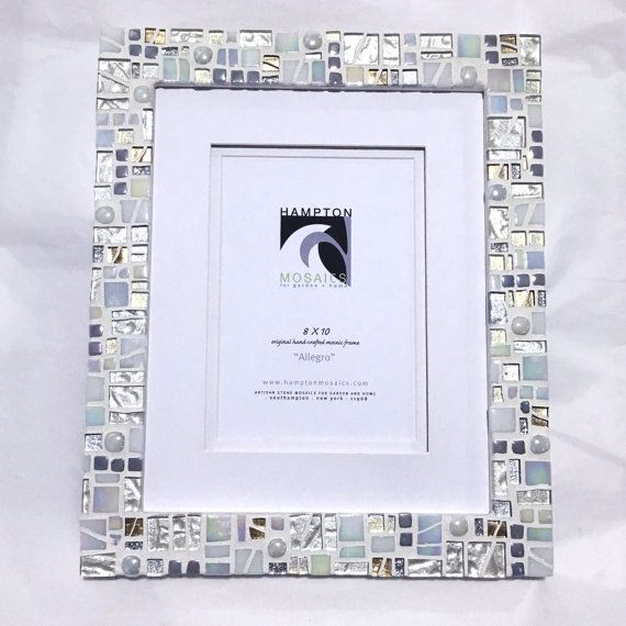 Mosaic Picture Frame 8x10 White Wedding Frame Engagement Gift Gallery Wall Frames Wall Pictur Wedding Frame Gift Cool Gifts For Women Unique Picture Frames