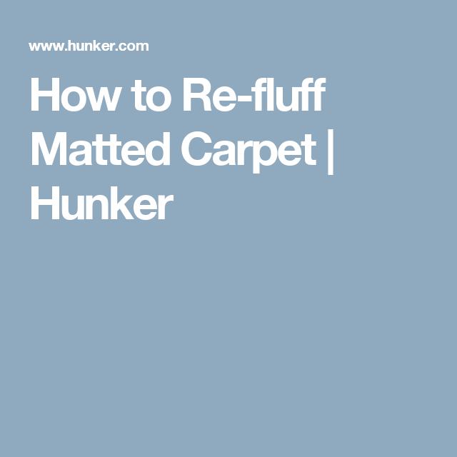 Best How To Re Fluff Matted Carpet Carpet Berber Carpet 400 x 300