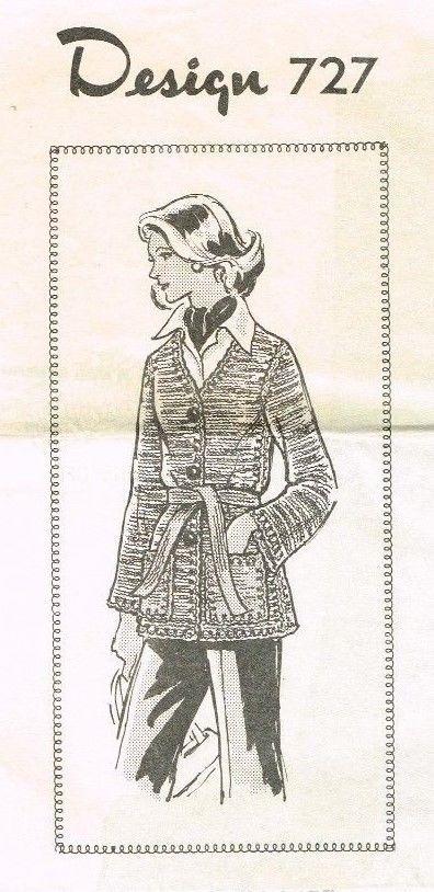 Vintage Knitting Pattern Leaflet 727 Knitted Sweater Hippie Boho