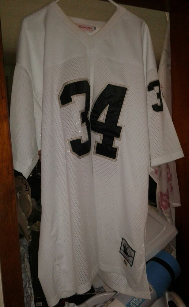 Cheap Bo Jackson 1987 #34 Mitchell & Ness Throwback Raiders Jersey Size 56