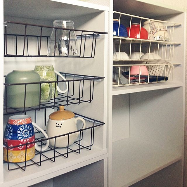キッチン Diy 手作り キッチン収納 食器 などのインテリア実例