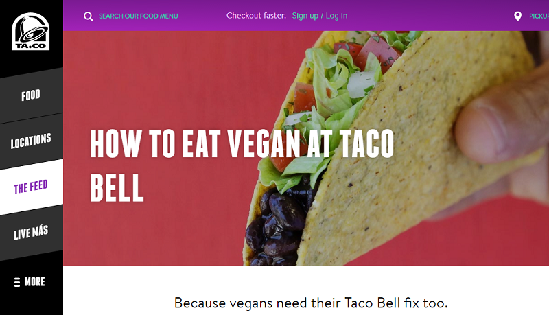 Consumers Asked Taco Bell Responds By Rolling Out A Vegan Options Guide Vegan Options Vegan Vegan Eating