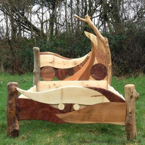 constellation bed handmade wooden bed