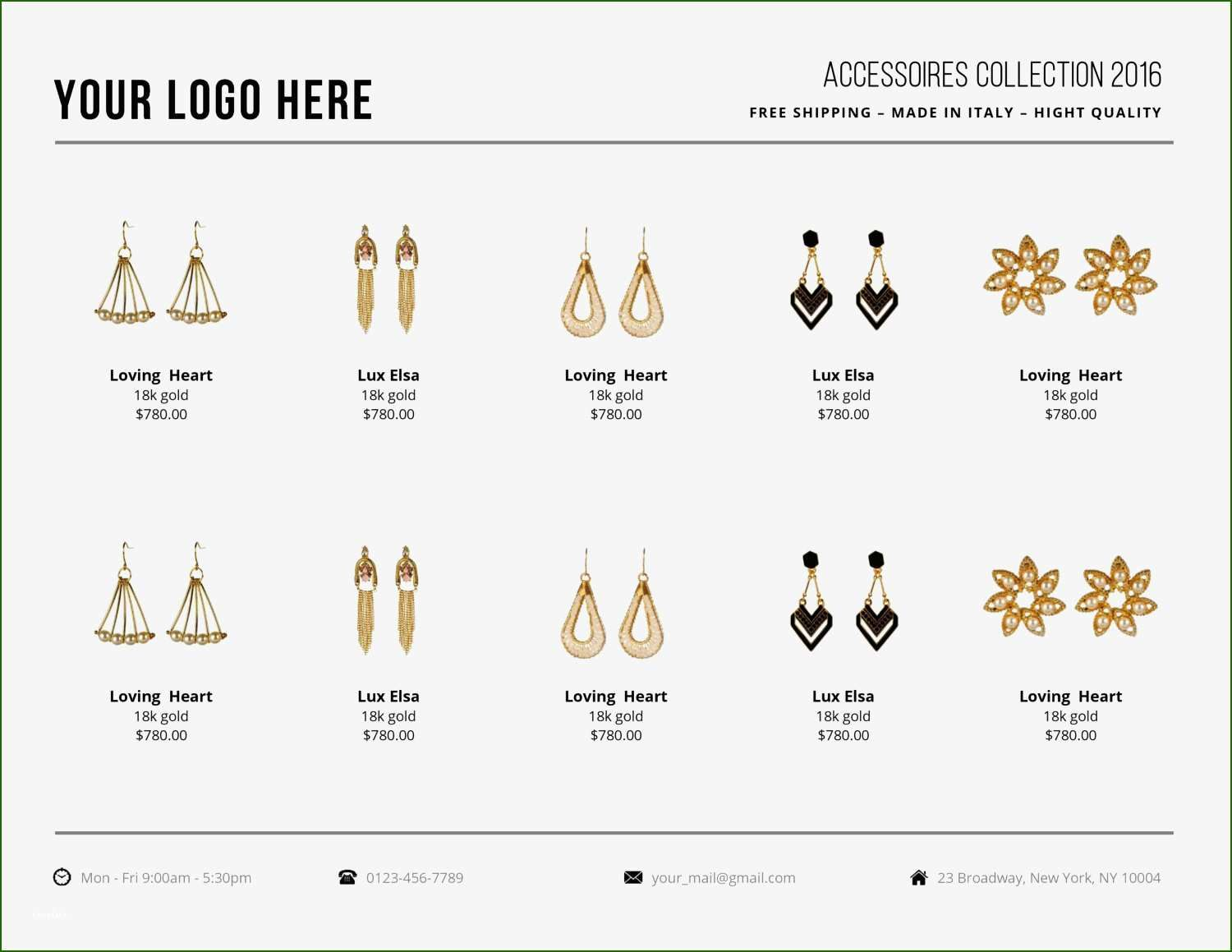 16 Impressive wholesale Line Sheet Template In 2020 in