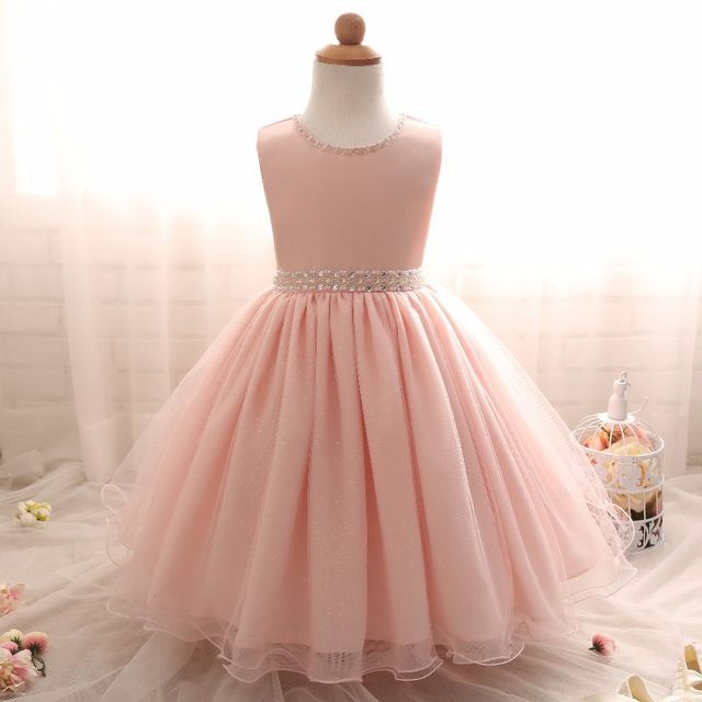 77162c2301ca Bautismo recién nacido princesa elsa dress infantil para 1 2 años cumpleaños  wedding party girls dress