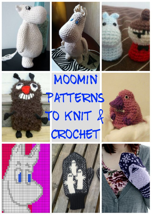 Moomin Craft – The best Moomin patterns | Dork Adore | Häkeln ...
