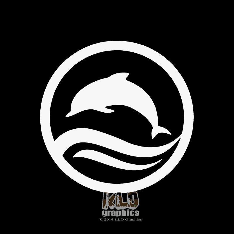 Dolphin In Circle Vinyl Sticker Decal Design Scuba Diver Ocean Hawaii Thrills Decal Design Vinyl Sticker Design