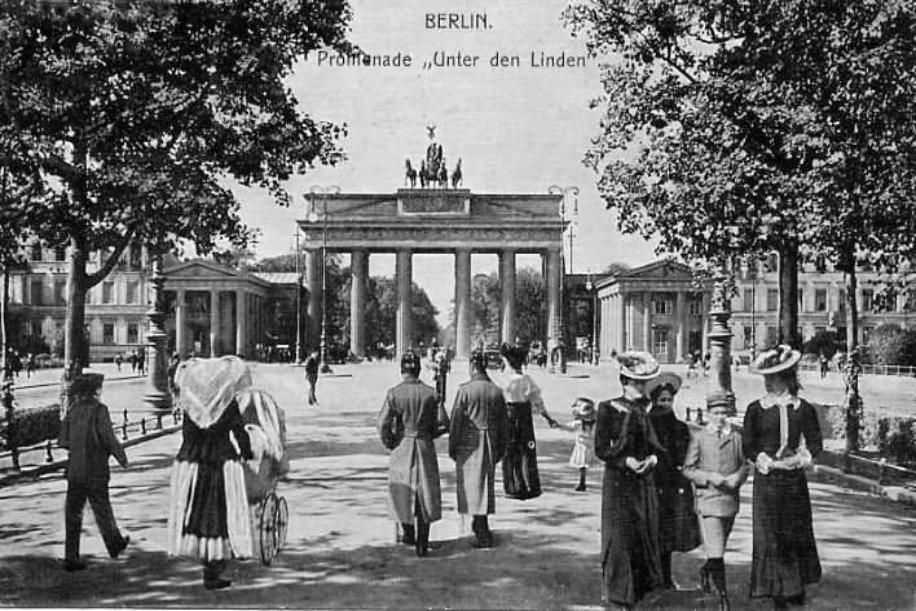 I like old postcards - this one is of Berlin, the Unter den Linden.