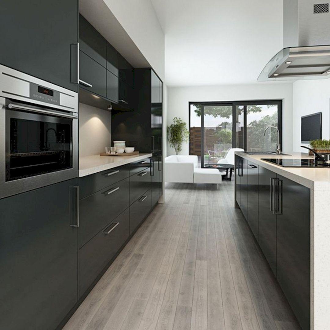 9 Nice Ideas for Your Modern Kitchen Design   Modern grey kitchen ...