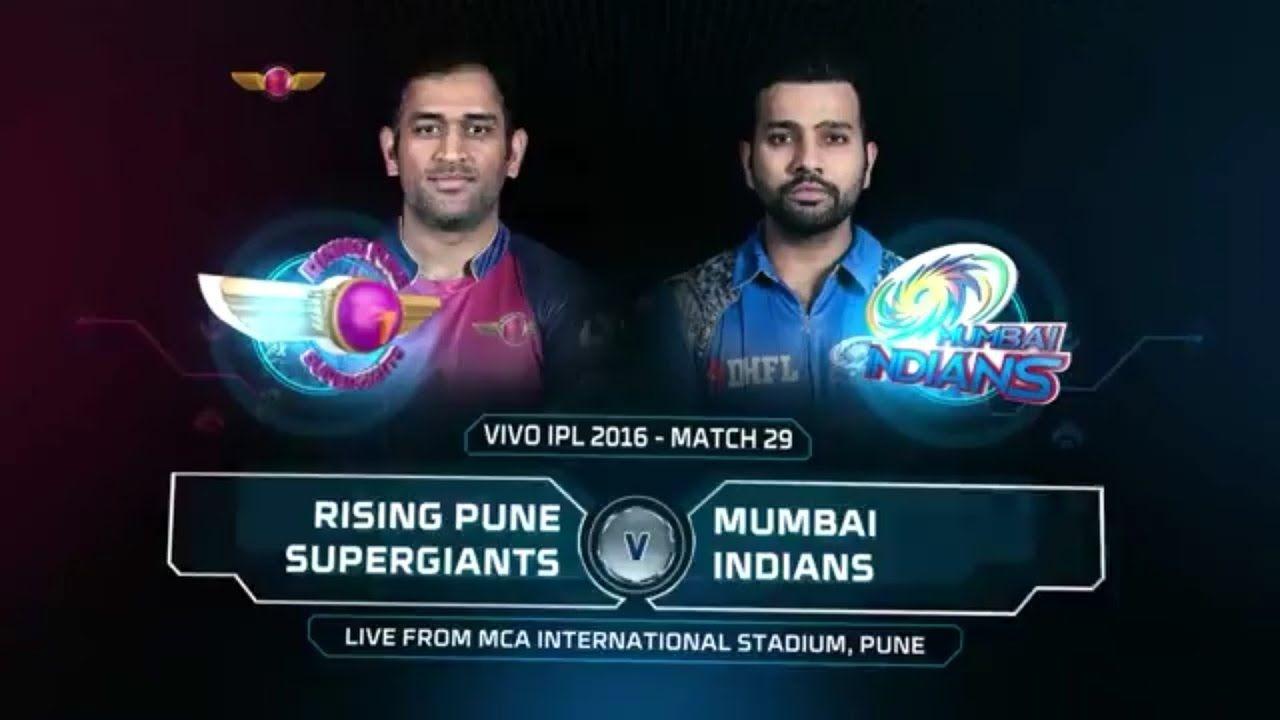 IPL 2017 RPS vs MI Live Score | Rising Pune Supergiant vs Mumbai Indians.