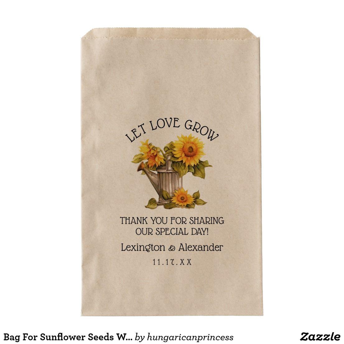 Bag For Sunflower Seeds Wedding Guest Favor | | Wedding guest favors ...