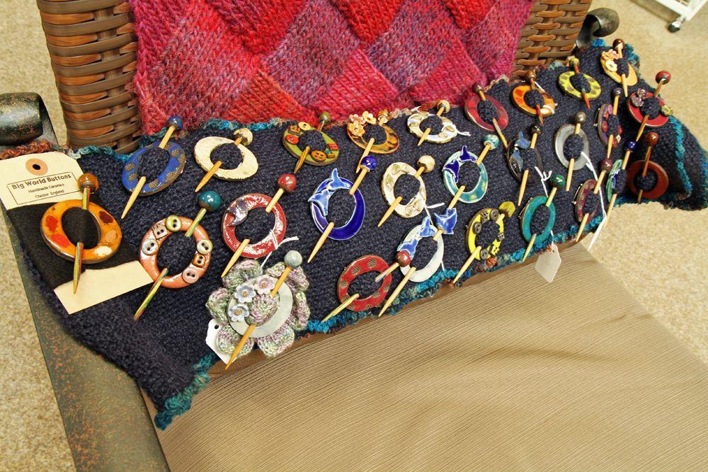 Beautiful Handmade Ceramic Shawl Pins