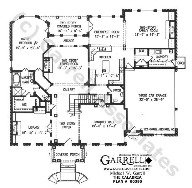 Calabria House Plan 00390 Garrell Associates Inc House Plans Floor Plan Design Floor Plan Layout
