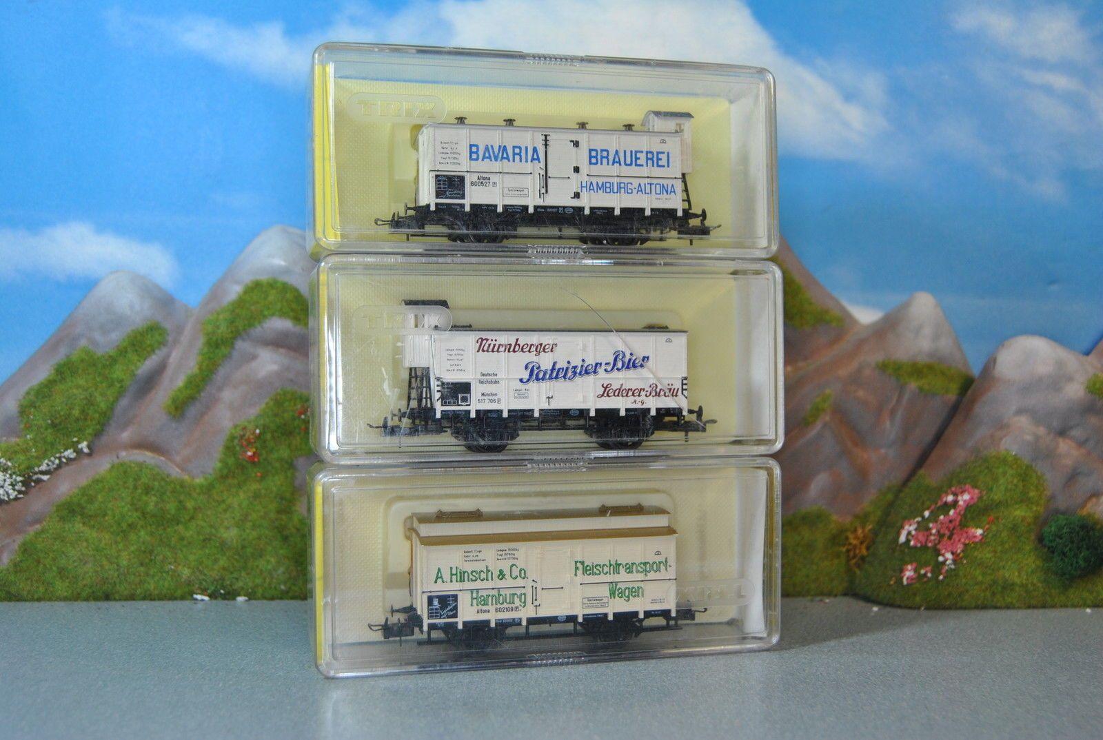 Trix H0 3 Stk. 2-achs Fleisch & Bierwagen der DR Nr. 23536 , 23523 , 23538 | eBay