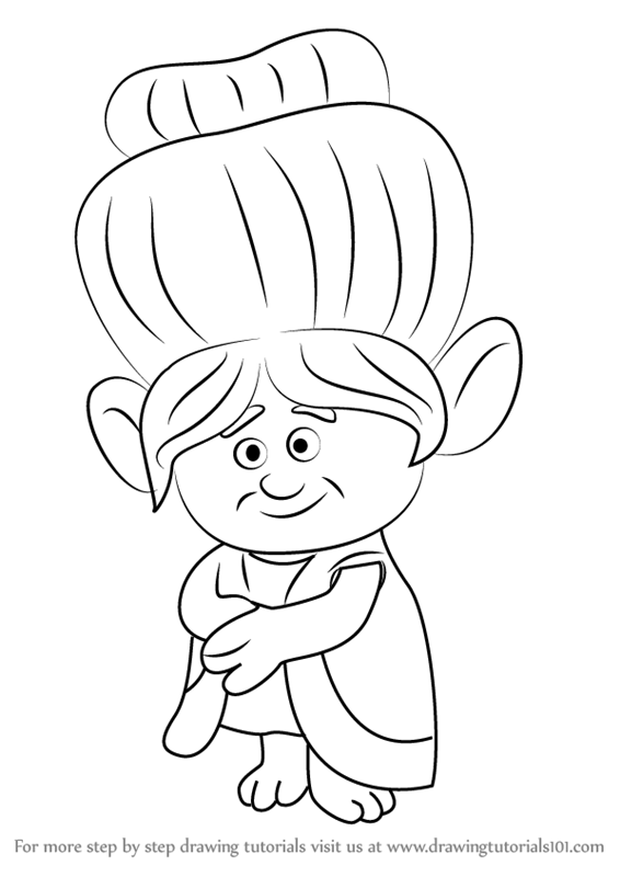 Learn How To Draw Grandma Rosiepuff From Trolls Step By Drawing Tutorials