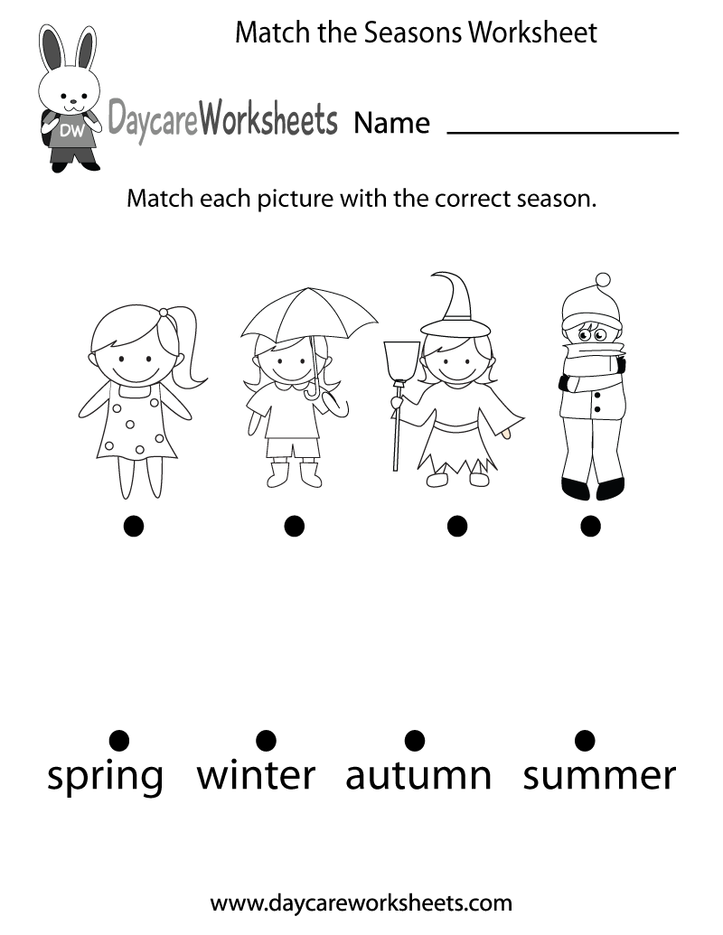 preschoolers have to match each picture with the correct season in this free worksheet. Black Bedroom Furniture Sets. Home Design Ideas