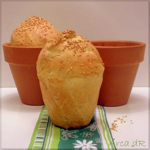 pan horneado en un tiesto