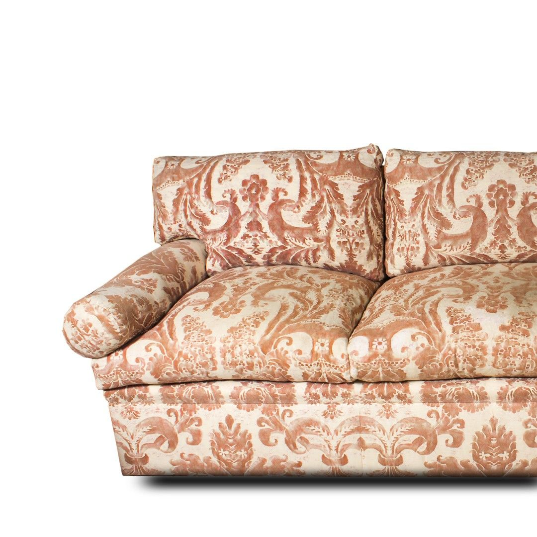 Find This Pin And More On Consignment Archive At Decor NYC. Fortuny Sevigne  Custom Made Traditional Sofa ...