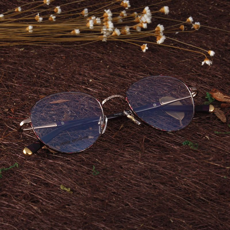 5a58b92cf1 Trending Vintage Purple Flower Glasses Colorful Retro Optical Frames Round  Prescription Glasses Frame