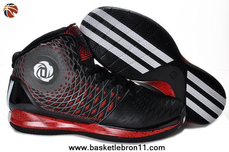 New Adidas AdiZero Derrick Rose 3.5 Black White Red