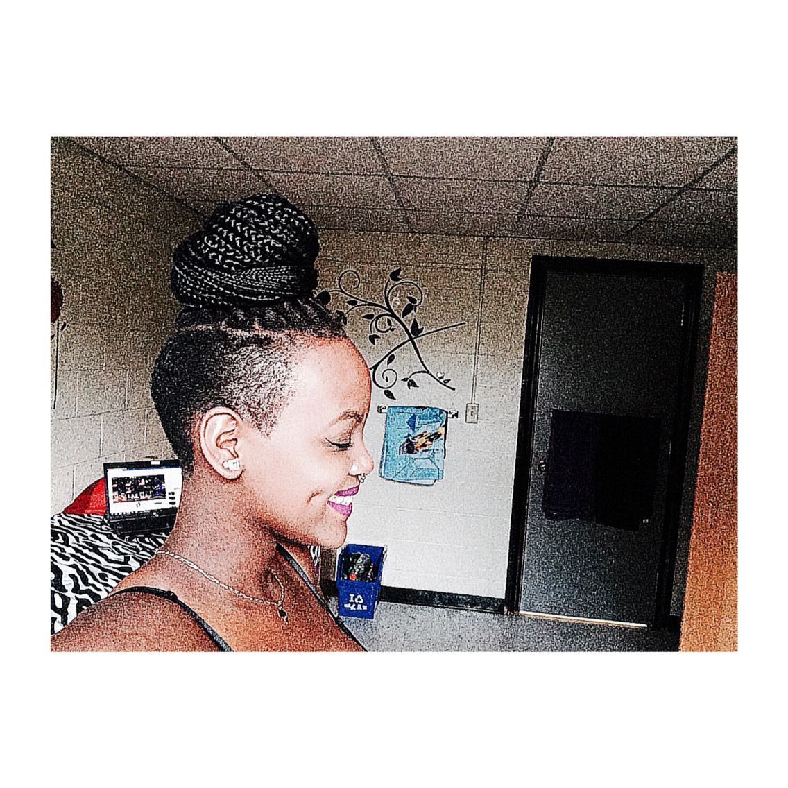 Box braids and a shaved sides side shaved with braids pinterest