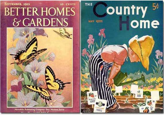 Better Homes Gardens September The Country Home May  Both Public Domain Due To Failure Of Publisher To Renew Copright Prot