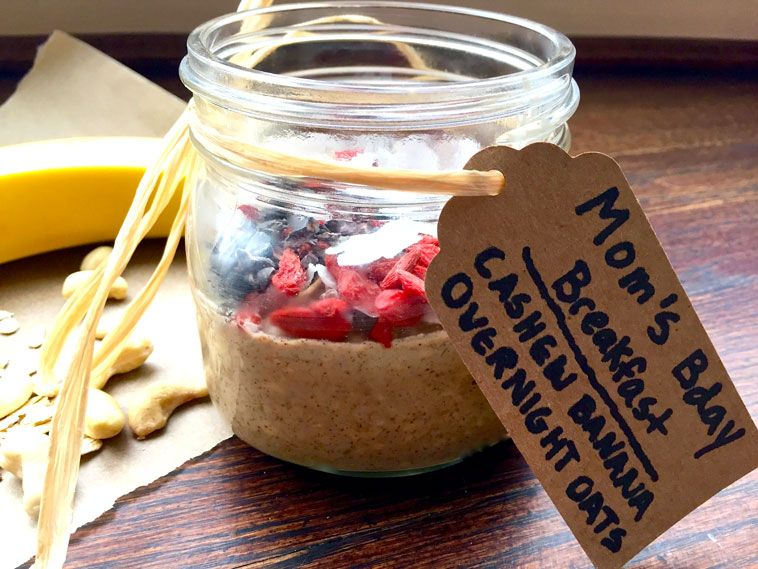 Overnight Oats made for @kalechocolate by her sons