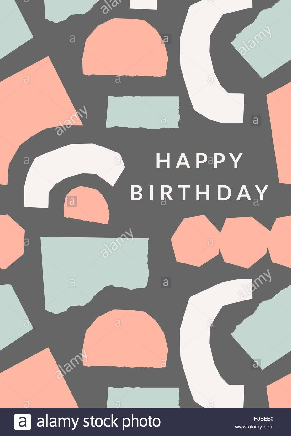 The Surprising Greeting Card Template With Torn Paper Pieces In Pastel Inside Birthday Card Col Greeting Card Template Birthday Card Template Diy Holiday Cards