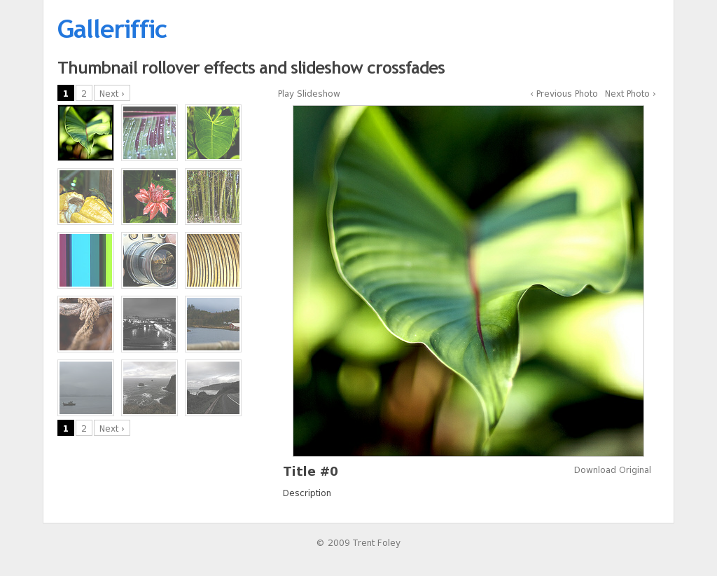 Galleriffic: A nice thumbnail gallery plugin for jQuery.