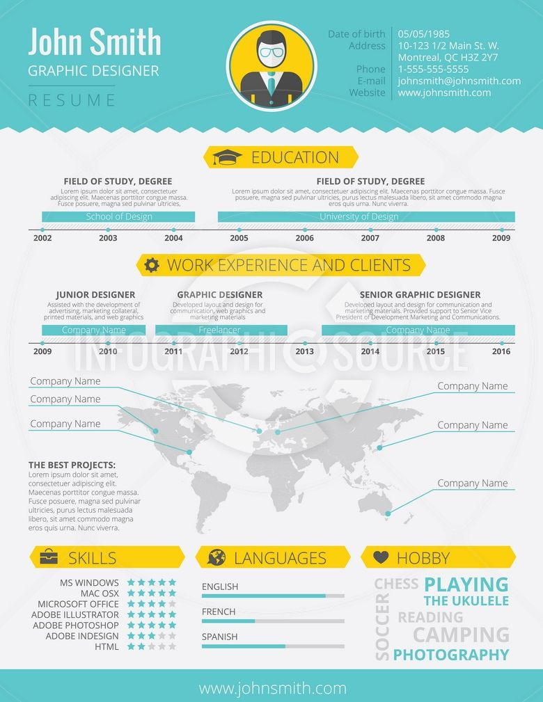 Infographic Resume Infographic Technology Resumes  Infographic Resume Template  1