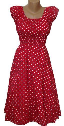 768f74ed8c5 Red White Polka Dot Dress Peasant Boho 50 s Pinup Retro Vintage Style Plus  Size