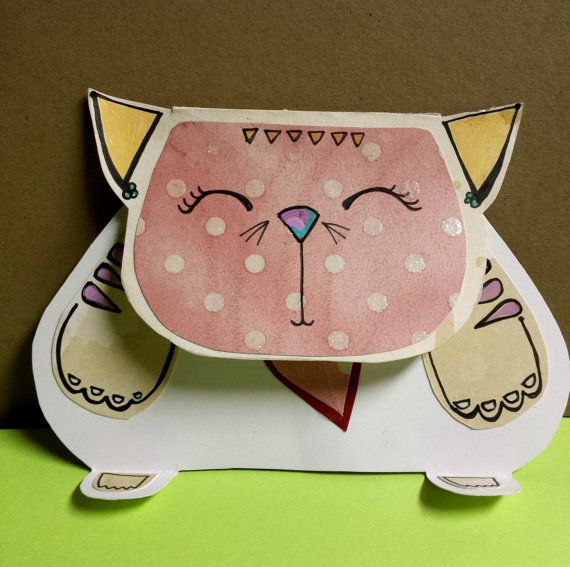 Willowcat Kitties One of a kind greeting cards by willowcatstudio, $6.00