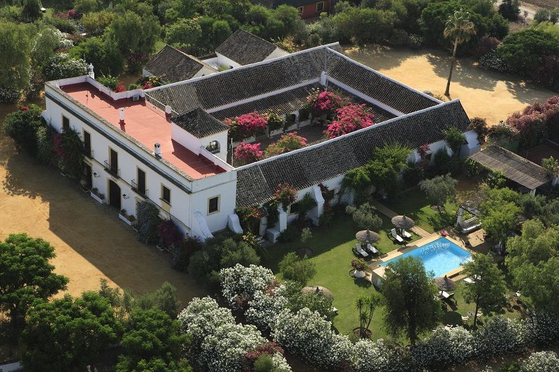 Hacienda De San Rafael   Seville Connect The House With A Mexican Block  Wall To Surround