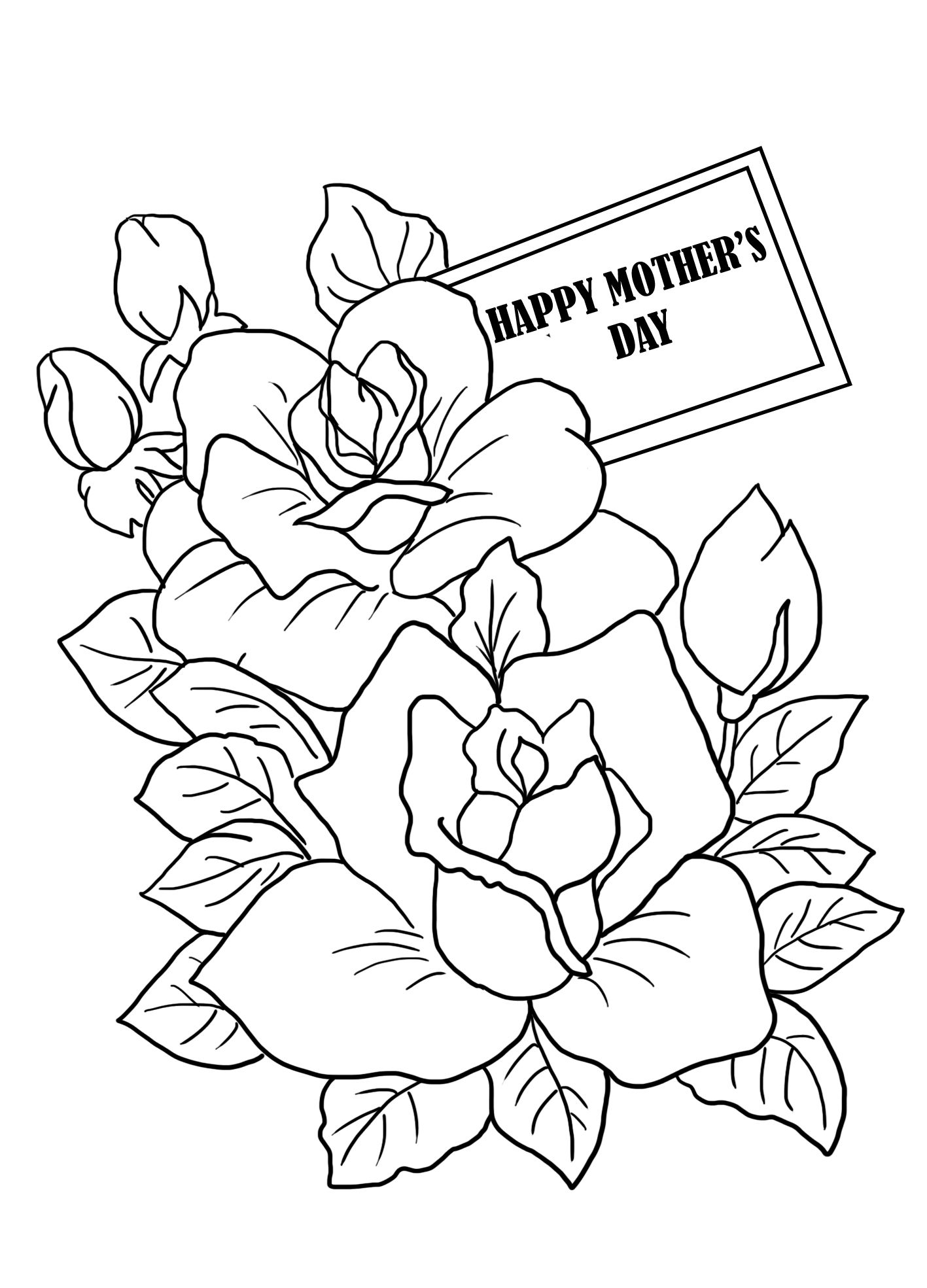 Flower Coloring For Mother S Day