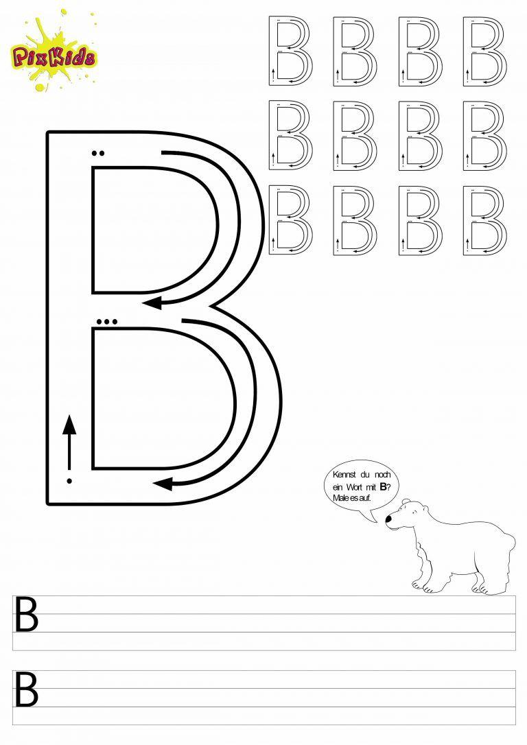 Grundschule Arbeitsblatt Deutsch schreiben lernen B | Rund ums ...