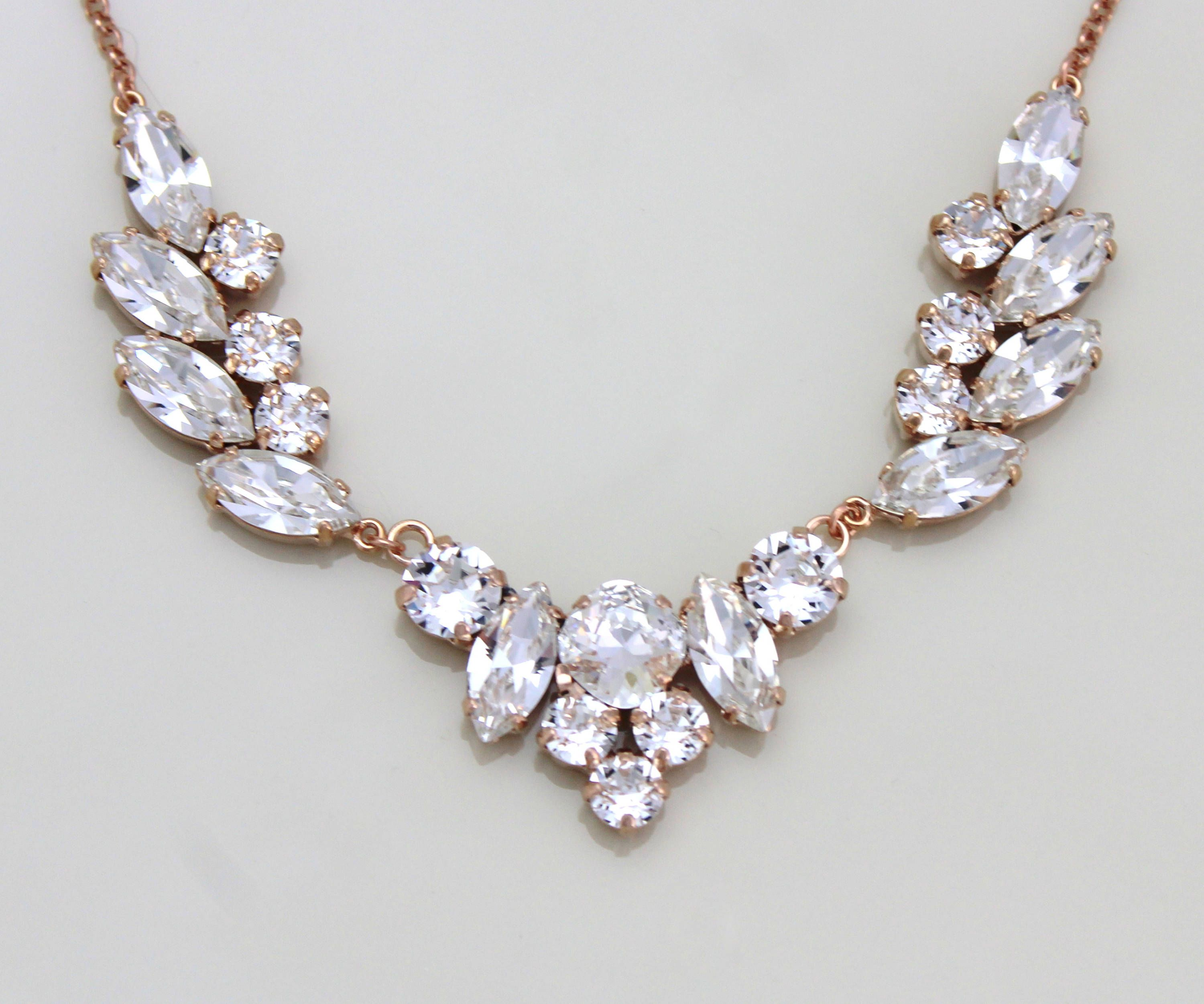 swarovski demetria collection stone bjs bridal necklace jewelry deme wedding product crystal img