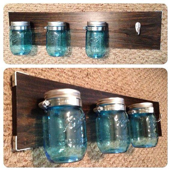 Mason Jar Bathroom Storage System on Etsy 5000  Crafts
