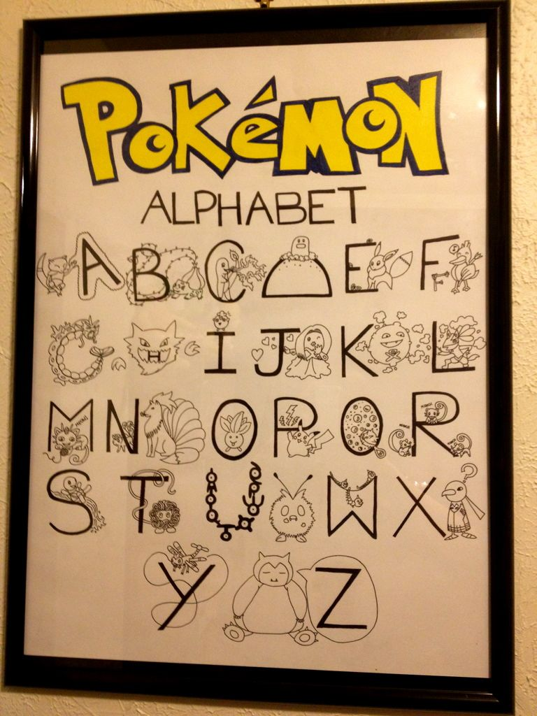 Pokemon Alphabet by dindintobert